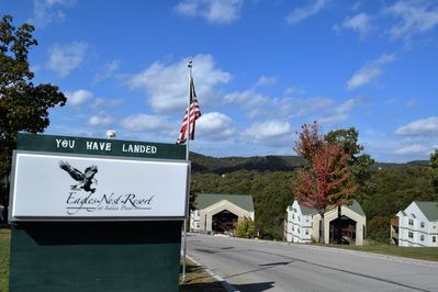 Entrance to resort area