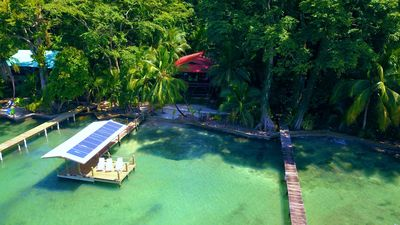 Photo for Stunning eco home overlooking the Caribbean