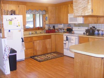 The kitchen has everything you might need including coffee maker, microwave, etc