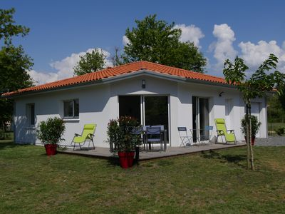 Photo for Beautiful new villa, quiet, near forest Biscarrosse / 6p