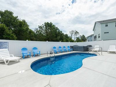 Photo for #CB105 GORGEOUS New Soundside home with private pool, hot tub & VIEWS!