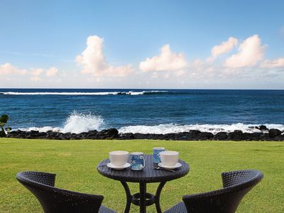 Photo for Kuhio Shores #114: Amazing Oceanfront View, Perfect for Sunsets & Whale Watching
