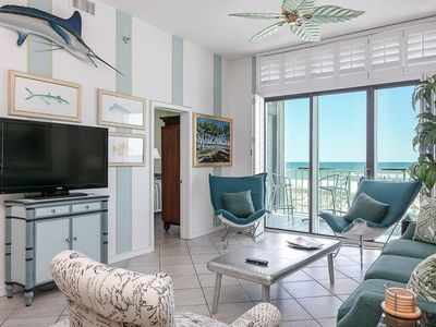 Photo for Gulf-Front Beach condo! Spacious Kitchen/Living Area, Stunning Views, Community Pools, Sleeps 6!
