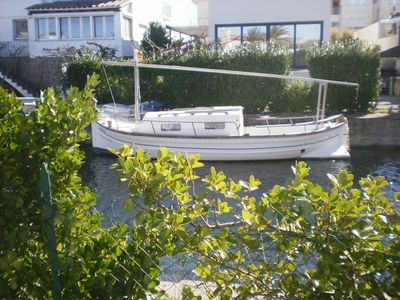 Photo for Pleasant Villa in Empuriabrava with garden and boat mooring, 3 bedrooms., 6 pers. South