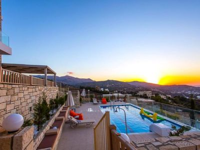 Photo for Vacation home Lygaria Luxury Villa in Lygaria, Heraklion - 10 persons, 4 bedrooms