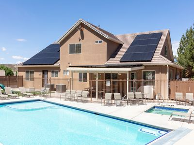 Photo for Sleeps 32! Reduced Rate for Fall, Private Fenced Pool, Spa, Play Gym, BBQ