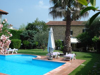 Photo for Beautiful stone house in Garlenda, 10 minutes to the sea, pets welcome