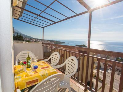 Photo for Two bedroom apartment with terrace and sea view Baška Voda, Makarska (A-6761-d)