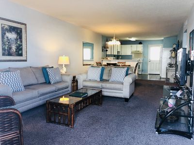 Photo for Gulfside 2br/1ba updated Condo with private balcony overlooking gorgeous pool.
