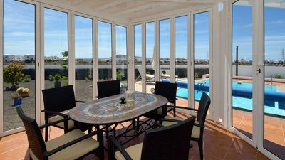 dining room with great views of the garden