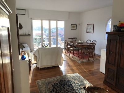 Photo for 90sqm apartment, sea view, 2 bedrooms, 2 parking spaces, 100mt beach, wifi