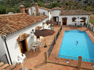Photo for Villa, adjoining house and cottage, own pool, sleeps up to 12, WIFI, Ronda area