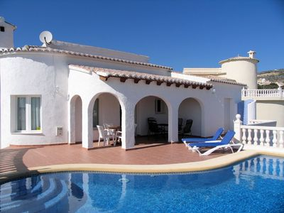 Photo for Beautiful Family Villa with Picturesque Sea Views  - Aircon To Rooms. Great Pool