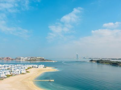 Photo for Palm Jumeirah Beach Holiday Apartment with full Sea Views