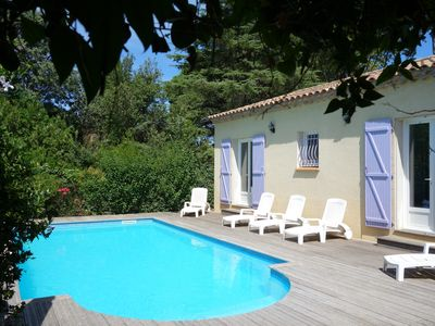 Photo for Spacious Air-conditioned Villa Private Pool between sea & mountains in Hérault