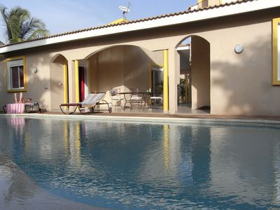 Photo for RECENT LUXURY VILLA, private infinity pool, 180m from the beach.