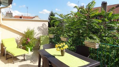 Photo for T2 40m² + terrace 15m² + parking - 300 m historic center and train station