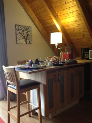 Photo for Spacious apartment, 2 bedrooms, large living / kitchen area,
