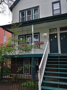 Front of the house, the apartment is lower level Garden Apartment. Own Entrance