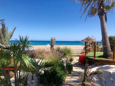 Photo for ''ON THE BEACH'' Villa with Private HEATED POOL/Gardens/Tiki Bar/Games & Cinema