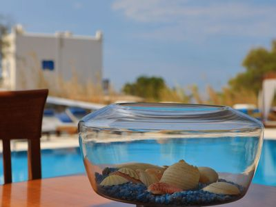 Photo for Maganos Dodeca:Mykonos Apartment, close to the sea, breakfast included, shared pool