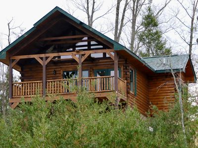 Photo for BRAND NEW LUXURY INDOOR HEATED POOL CABIN minutes from downtown Gatlinburg!