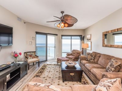 Photo for EMERALD ISLE Gulf-front condo. Deluxe furnishings, private balcony with spectacular Gulf views