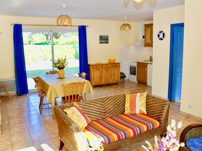 Photo for BEACH-500 M-3 bedroom house, ground floor-garden, private parking-ALL INCLUSIVE