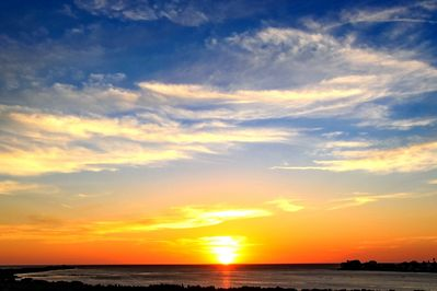 Beautiful sunsets you will see as the house faced directly west.