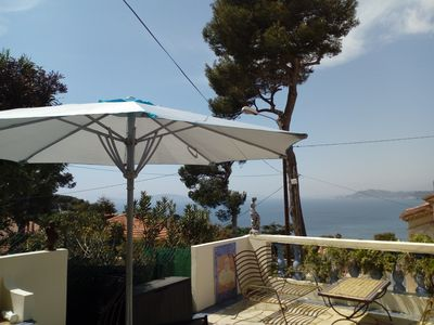Photo for villa full sea view facing the harbor of Toulon