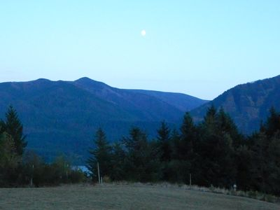 Moon over Gorge Mtns