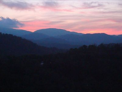 Photo for Beautiful Windsong with 60 Mile Sunset Vistas, in Echota on the Ridge Resort