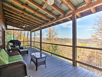 Photo for Sevierville Cabin w/ Hot Tub - Mins to Mtns!