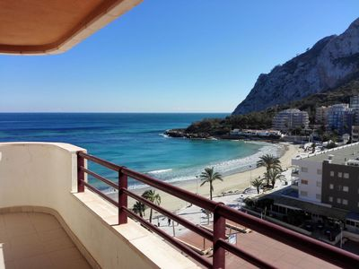 Photo for Apartment in beachfront with sea views and pool