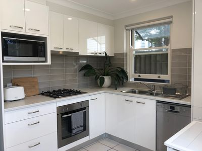 Brand new fully-equipped kitchen with state of the art appliances.