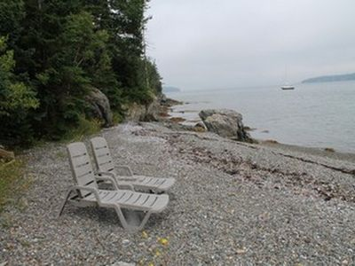 Photo for Beautiful waterfront Bar Harbor cottage with nice beach
