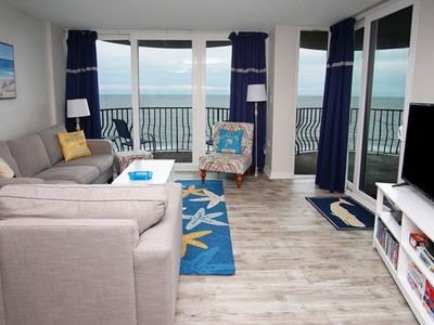 Photo for Palms Resort #902, 3 bedroom Ocean Front condo with Indoor and Outdoor pool