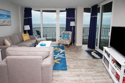Enjoy the ocean views from the comfort of your living area.