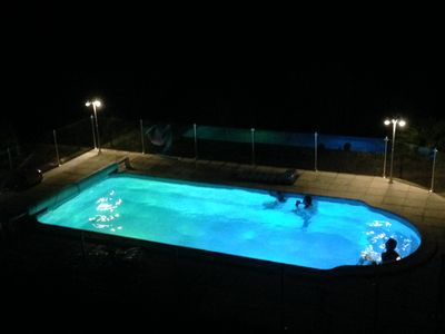 Pool at night, if you had n't guessed!