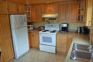 A fully equipped kitchen with everything you need including a dishwasher