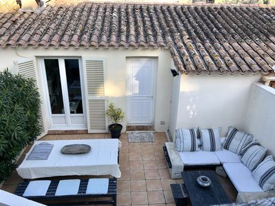 Photo for SEMI-DETACHED HOUSE OF 100 M2 IN THE VILLAGE OF GRIMAUD, VIEW COUNTRYSIDE