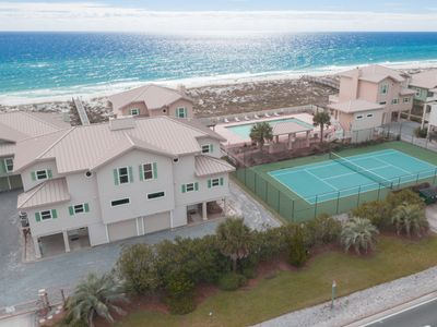 Photo for Town home Directly on the Gulf with Tennis Court and a Pool