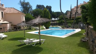Beautiful communal gardens and pools