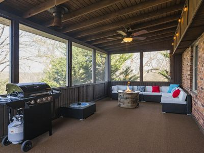 Photo for Newly renovated 4 bed/2 bath w/ hot tub, porch, fire pit, games!