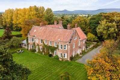 The house is set at the foot of the Cleveland hills - Roseberry Topping