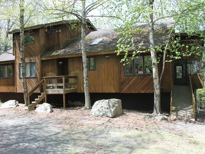 Photo for Pocono House W/ Outdoor Hottub, Pet Friendly, 2 Canoes, Kayak & Firepit