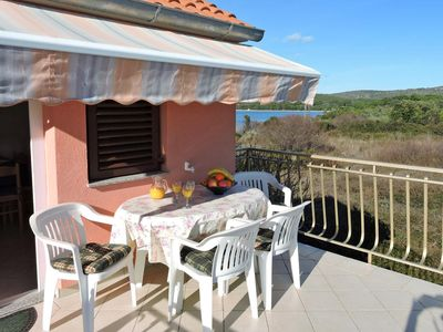 Photo for Two bedroom apartment with terrace and sea view Veli Rat, Dugi otok (A-436-a)