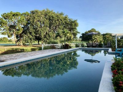 Private Out door 42' Pool over looking the golf course.