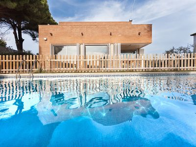 Photo for CALDETES -  SPACIOUS AND MODERN - Ideal for families with private garden and pool, wifi, sea views and close to the town
