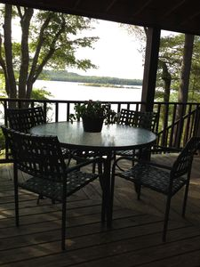 Photo for Peaceful, Rustic Retreat, 25ft of Private Beach,  300 Acre Pond